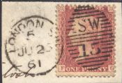 1857 1d Red SG40 Plate 36 'FG'